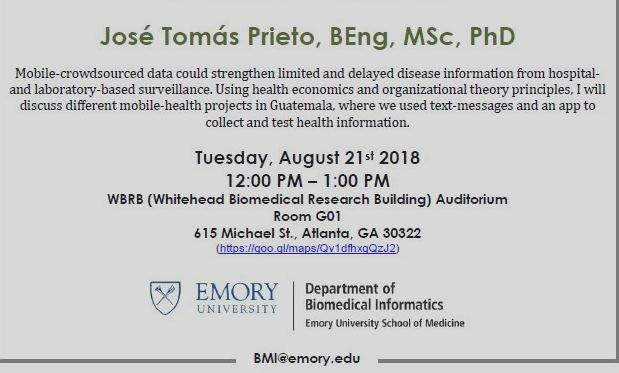 A summer 2018 presentation at the Department of Biomedical Informatics, Emory University